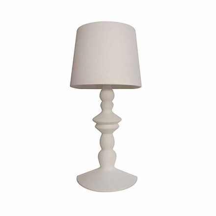 Wall Lamp in Paintable Ceramic with Modern Design Lampshade - Cadabra