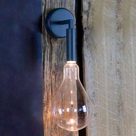 Outdoor Wall Lamp in Iron and Aluminum with LED Included Made in Italy - Luccico