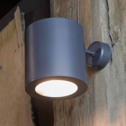 Outdoor Wall Lamp in Iron and Aluminum with LED Included Made in Italy - Rango