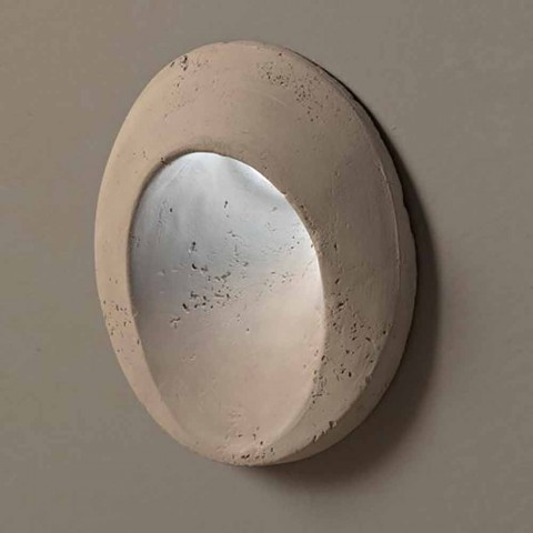 Oval outdoor wall lamp, in colored terracotta Oval - Toscot