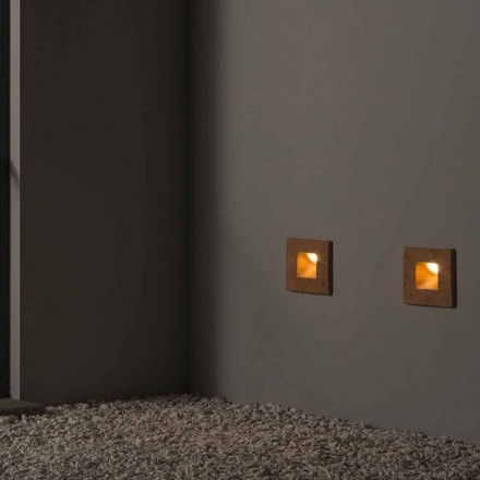 Square outdoor wall lamp in colored clay Square – Toscot
