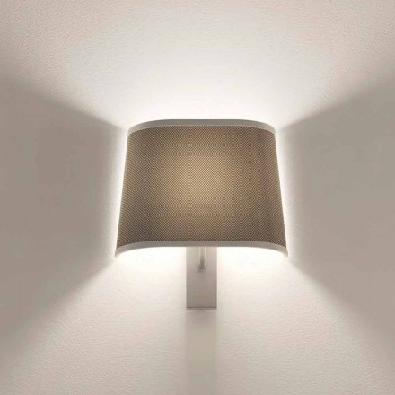 Design Wall Lamp in Metal Silver or White Finish Made in Italy - Jump