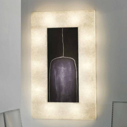 Modern design wall light In-es.artdesign Lunar Bottle 2 in nebulite