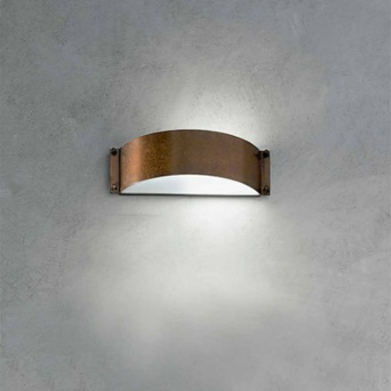 Designer wall sconce made of copper and methacrylate Fashion