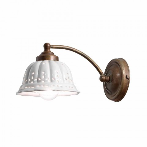 Applique art nouveau design ceramic Anita Il Fanale