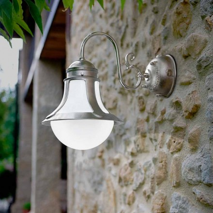 Designer brass and glass wall sconce Loggia
