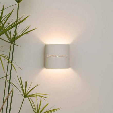 Modern two-tone nebulite wall lamp In-es.artdesign Punto Luce design