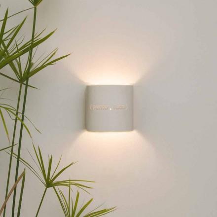 Modern two-tone nebulite wall lamp In-es.artdesign Punto Luce design
