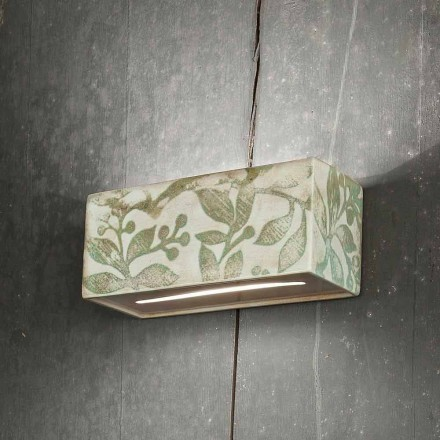Vintage design ceramic wall sconce made in Italy by Ferroluce