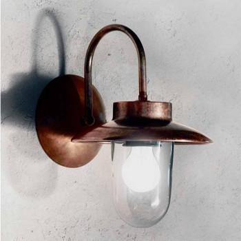 Applique classic La Traviata copper, glass, brass
