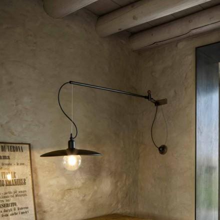 Vintage Brass Wall Lamp with Movable Arm - Meridiana Aldo Bernardi