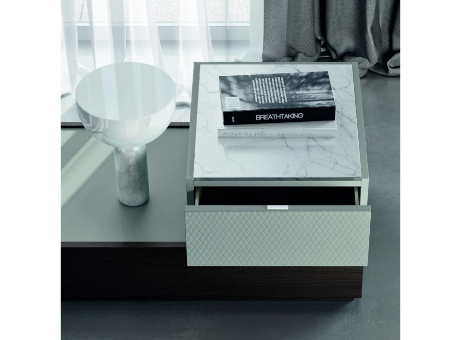 Bedroom Furniture with 7 Elements Modern Style Made in Italy - Polynesia