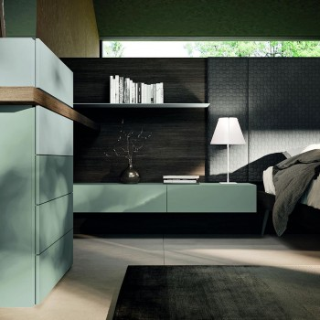 6-Element Bedroom Furniture Made in Italy - Ruby