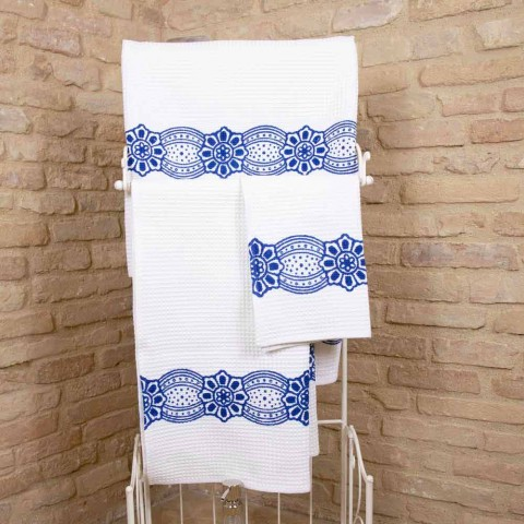 Italian Handcrafted Towel with Handmade Cotton Print - Trademarks
