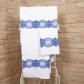 Italian Handcrafted Towel with Handmade Print in Cotton - Viadurini by Marchi