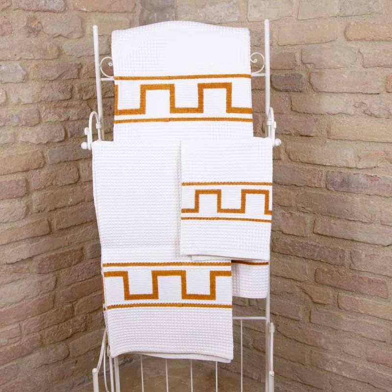 One-Piece Italian Cotton Hand-Printed Art Towel - Brands