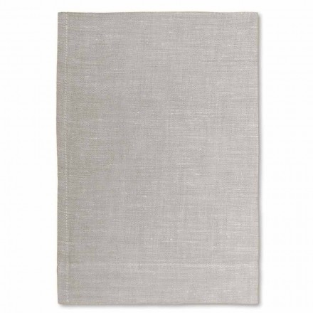 Cream White or Natural Pure Linen Bath Towel Made in Italy - Blessy