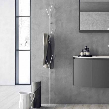 Modern Design Floor Coat Rack in White or Chrome Metal - Kottac