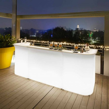 Modern design garden bright bar counter Slide Break Line made in Italy