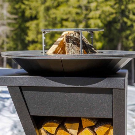 Wood-burning Garden Barbecue with Worktop and Plate for Cooking – Giorgione