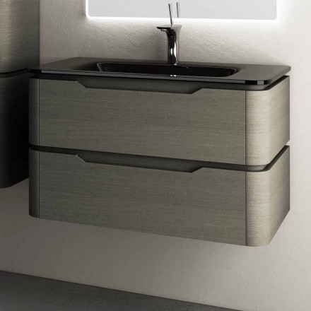 Arya modern design wall hung bathroom vanity 85x55x55cm, made of wood
