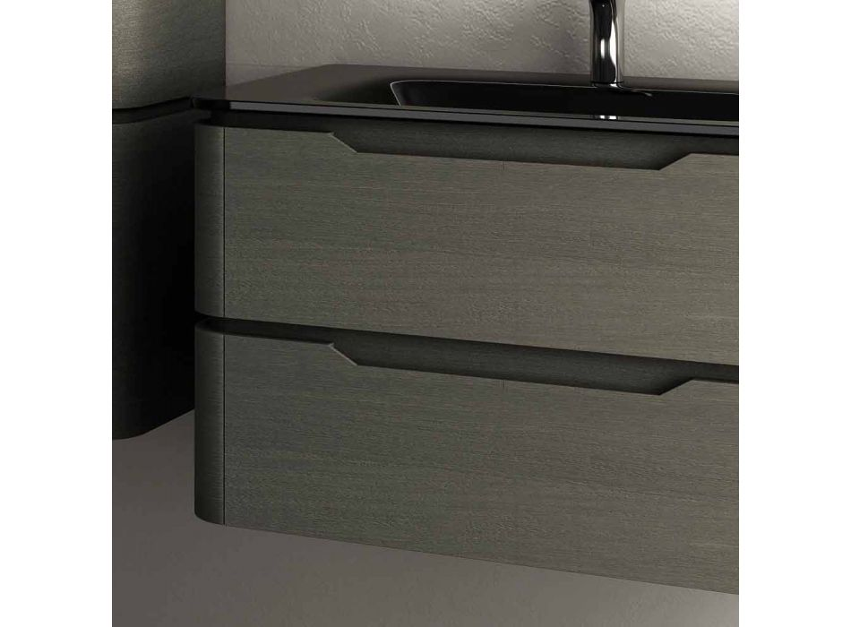 Modern design suspended sink base 85x55x55cm Arya lacquered wood