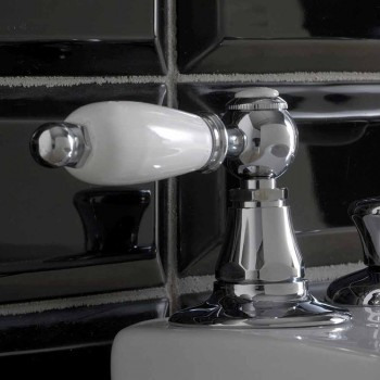 3-Hole Bidet Battery with Internal Dispensing Levers Handcrafted Brass - Noriana