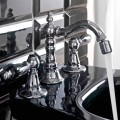 Classic 3-Hole Bidet Taps with Brass Levers Made in Italy - Noriana