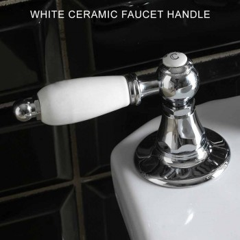 Classic Style 3-Hole Bidet Battery with Handcrafted Brass Levers - Noriana