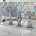 Classic 3-Hole Brass Basin Mixer Made in Italy - Elisea