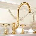 Classic High Mouth Wash Basin Mixer in Brass Made in Italy - Katerina