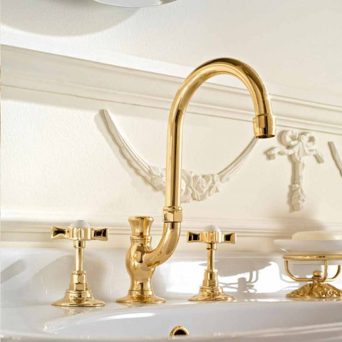 High Class Classic Brass Mouth Wash Basin Made in Italy - Katerina