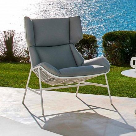 Modern design bergere garden armchair by Varaschin Summer Set