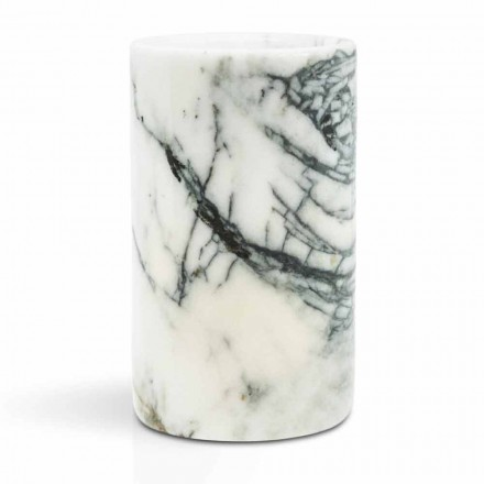 Glass Toothbrush Holder in Paonazzo Marble Made in Italy - Limba