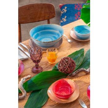 Modern Design Glass Colored Wine Glasses 6 Pieces - Timon