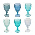 12 Pieces Colored Wine or Water Glass Glasses - Mazara
