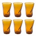 Colored Glass Cocktail Glasses 12 Pieces of Crumpled Design - Sarabi