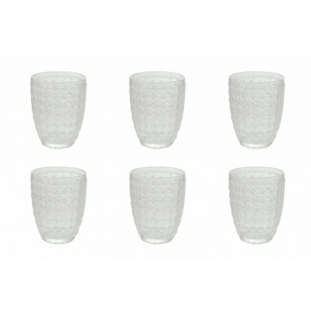 12 Pieces Serving Glasses in Transparent Glass for Water - Optical