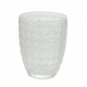 6 Pieces Serving Glasses in Transparent Glass for Water - Optical