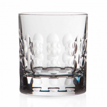 Double Old Fashioned Crystal Whiskey Glasses, 12 Pcs, Luxury Line - Titanioball