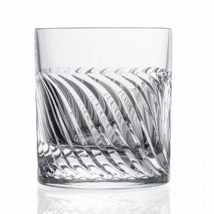 Luxury Eco Crystal DOF Design Whiskey Glasses 12 Pieces, Luxury Line - Aritmia