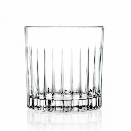 Double Old Fashioned Tumbler Low Glasses 12 Pieces Luxury - Senzatempo