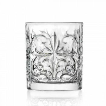Luxury Double Old Fashioned Tumbler Glasses 8 Assorted Pieces - Malgioglio