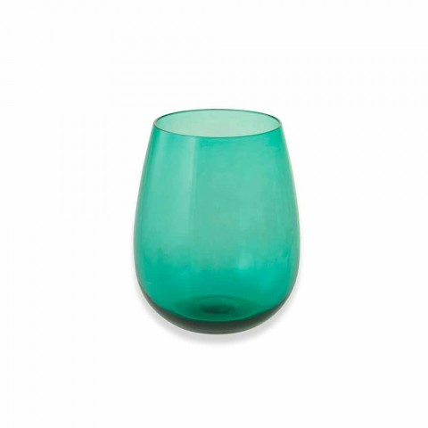 Colored Glass Tumblers for Water Modern Service of 6 Pieces - Aperi