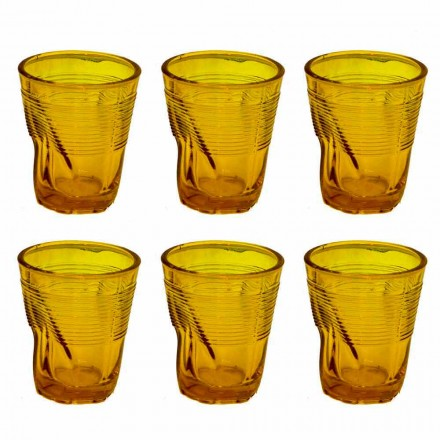 Modern Colored Glass Water Glasses 12 Pieces of Design - Sarabi