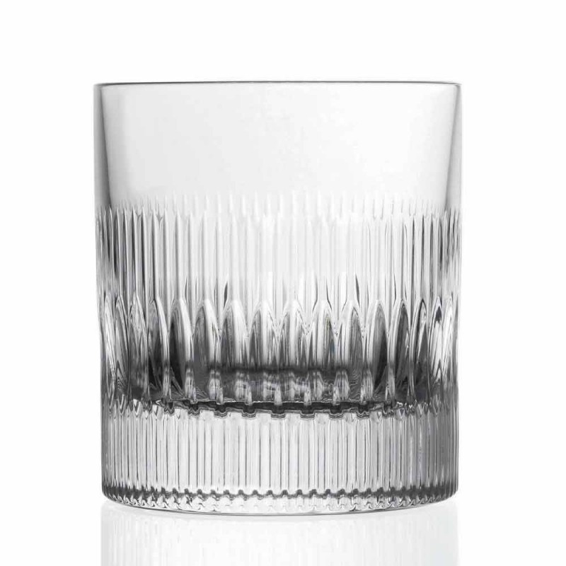 Crystal Whiskey and Water Glasses 12 Pieces Vintage Style Decor - Tactile