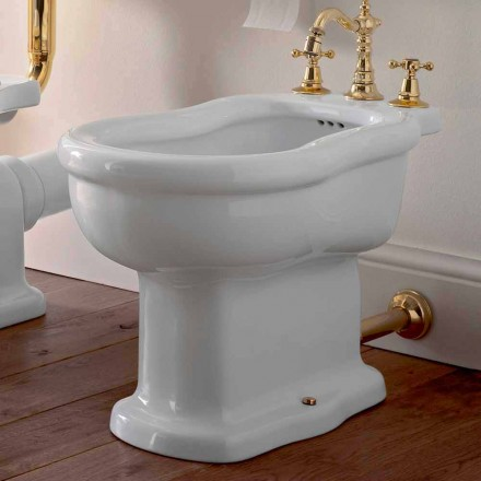 Classic Design White Bidet in White Ceramic Made in Italy - Paulina