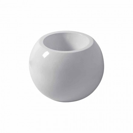 Ground spherical bidet in colored ceramic Fanna