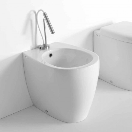 Modern Design Floor Bidet in Colored Ceramic Made in Italy - Lauretta