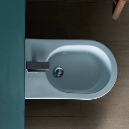 Modern design ceramic bidet 57x37cm Sun, made in Italy